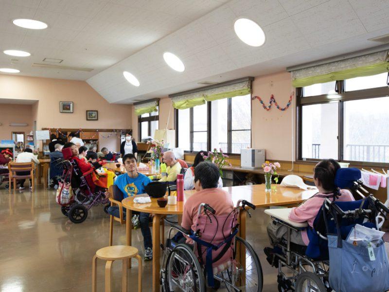 障害支援施設のフロア